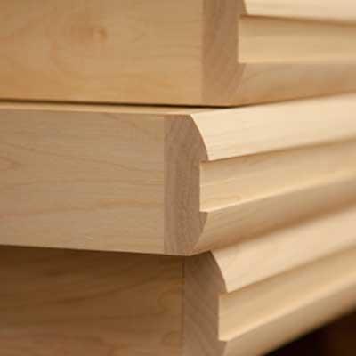 grooved hardwood edging