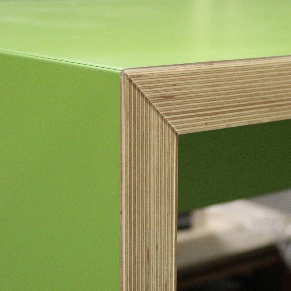 Lamello mitred bench table